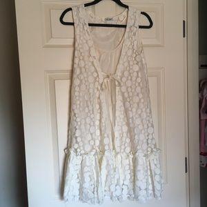 Miss Me Ivory Polka Dot Dress